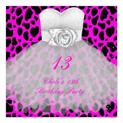 29 best images about 13th Birthday Party Invitations – 13th Birthday Invitation Ideas