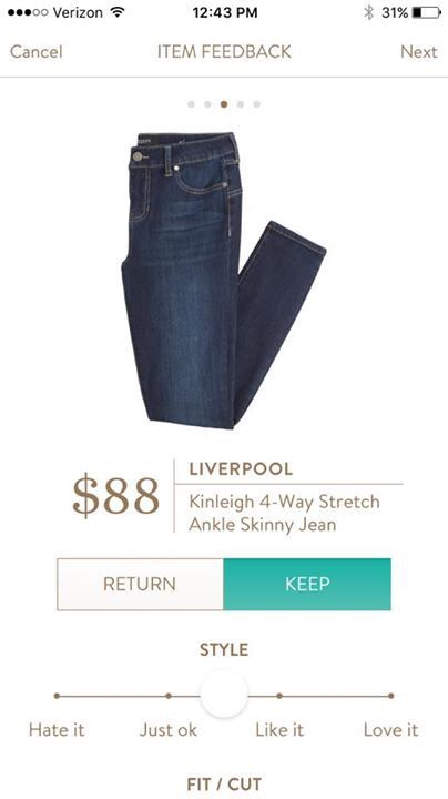 "You had me at 4 way stretch! I need some rear contouring - I will break my ""no skinny jeans"" rule for this!"