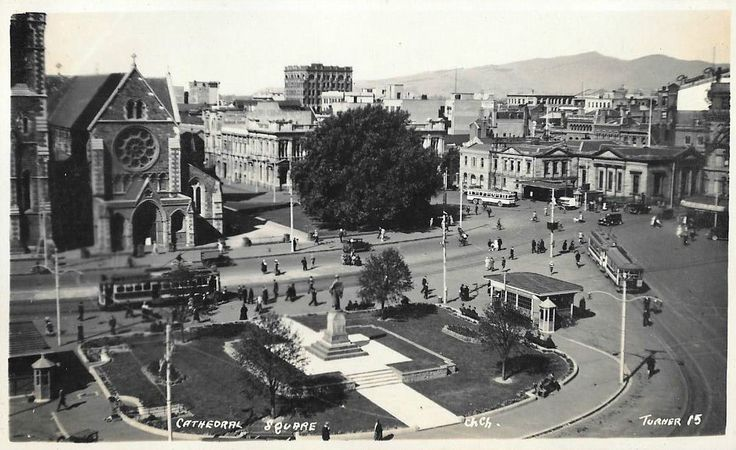 Cathedral Square, Christchurch Photo postcard