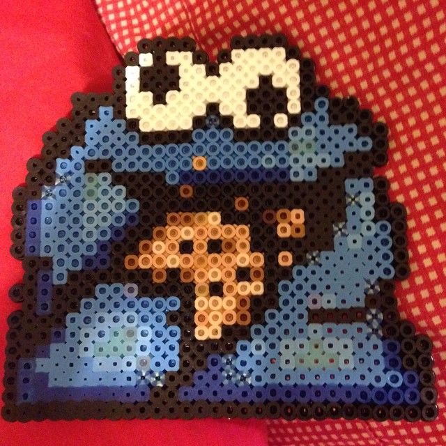 Cookie Monster perler beads by natillac.deville77