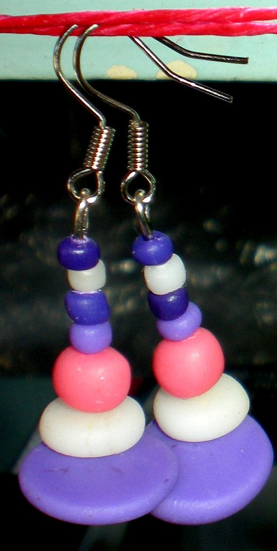 Handmade earrings from polymer clay handcrafted by Inspiration2Art, $6.99