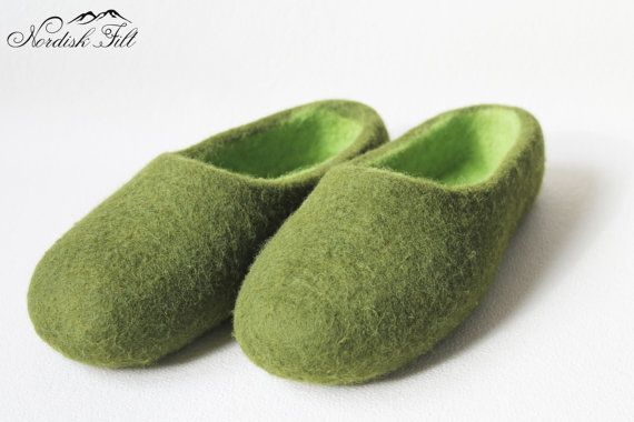 Felted wool slipper-warm house shoes-made to order