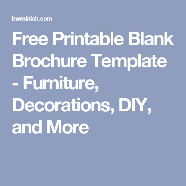 Blank Brochure Templates Best List Template Ideas On - Printable brochure templates