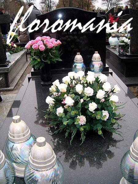 01.11.2014 Kompozycja sztuczna ale ze świeżymi gałązkami jałowca W wazonie żywe róże...