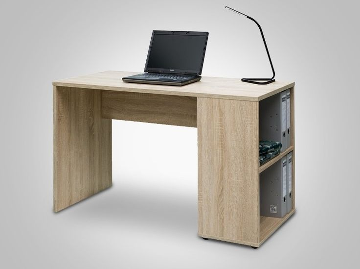 Rio at home desk with shelves (Oak) - This desk in  oak from Rio At Home is clean line designed. Very modern, it is a great one to have in a home office or kidsroom. The depth is good to have a laptop or PC and additional papers/files open at the same time. Also great for kids as they need optimum space to spread out their stationary and books all at once. This one comes with a matching set of two open shelves attached to the desk in order to  keep things more organized and provide easy…