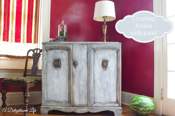The Story of Camille - The Little Blue Chest-Creating Patina with Paint - @A Delightsome Life