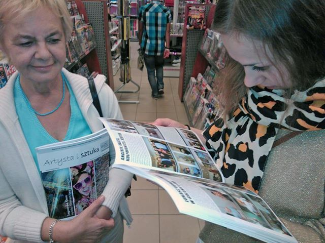 Obszerny artykuł z Justyną w magazynie Artysta i Sztuka. Dumna Mama z Justyną.