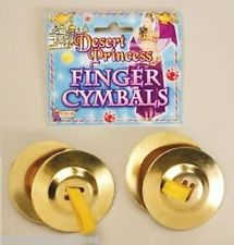 Finger Cymbals Belly Dancer Arabian Harem Costume Theme Party