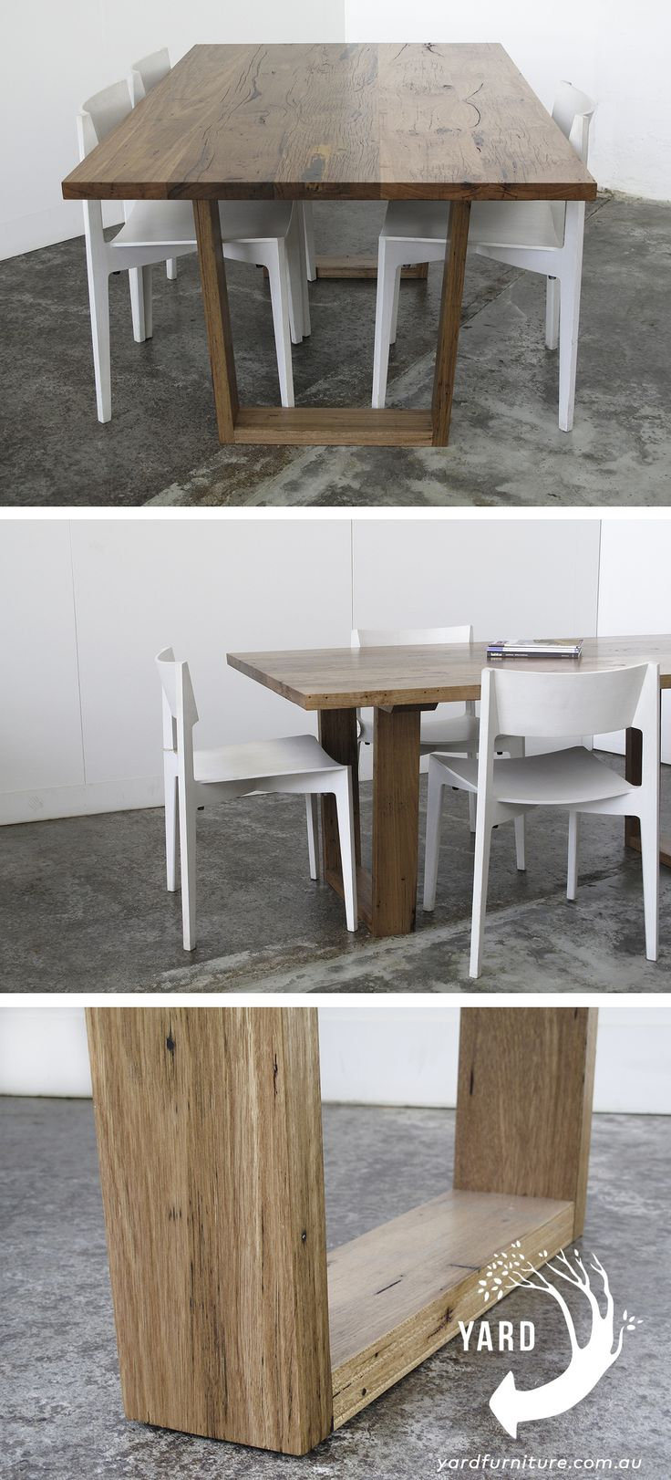 YARD furniture - Recycled timber furniture. Stanley Dining Table maybe from salvaged Yellow Stringy Bark Melbourne Australia