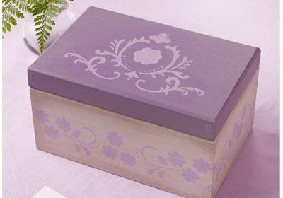 Martha Stewart Crafts Lavender Box. A beautiful box from Martha Stewart. Created with Martha Stewart acrylic paints.