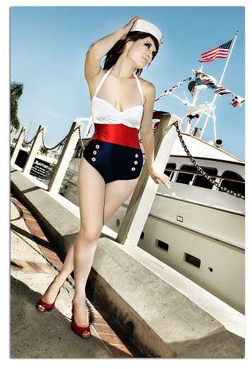 Nautical Bathing Suit