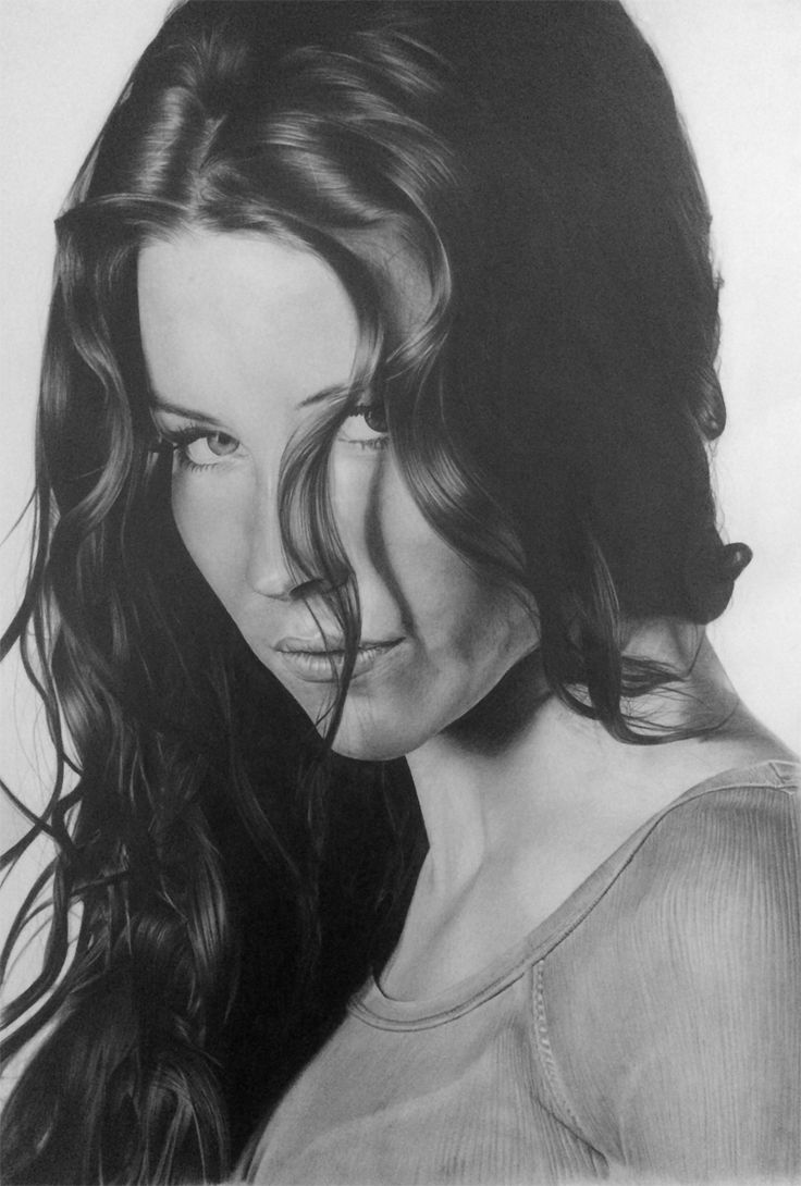 Evangeline Lilly Pencil Drawing - KevsArt.com