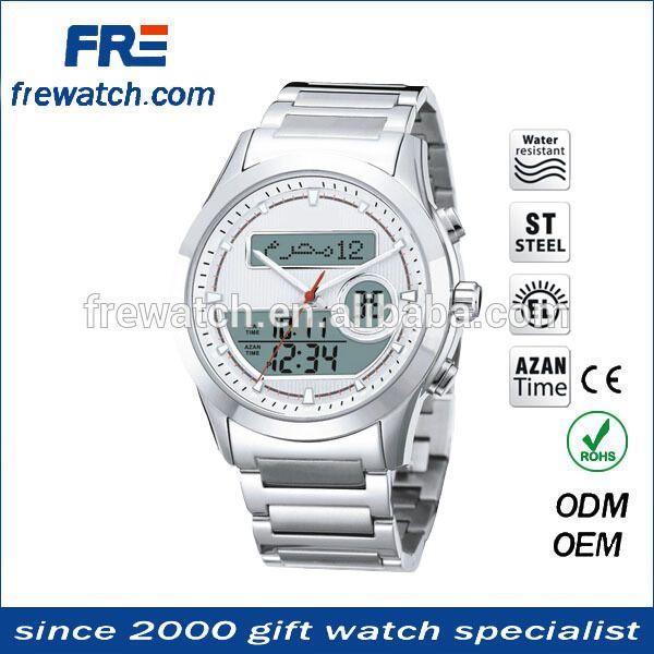 """wholesale high quality Muslim Digital Dual Azan Time wrist Watch,pray Muslim watct"""