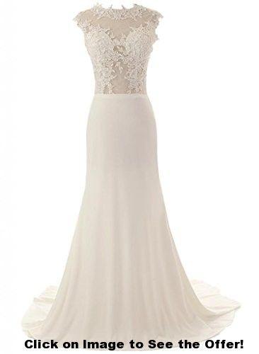 ASA Mermaid Lace Wedding Dress Long White Evening Dress