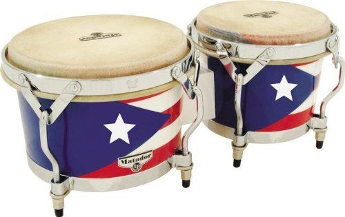 Latin Percussion Matador Puerto Rican Heritage Wood Bongos by Latin Percussion. Save 35 Off!. $151.96. Matador Puerto Rican Heritage Wood Bongos