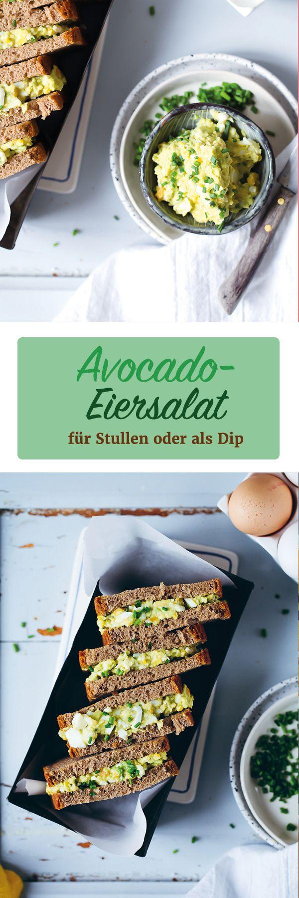 Rezept für Avocado-Eiersalat fürs Brot oder als Dip / avocado egg salad recipe / Stulle der Woche / www.zuckerzimtundliebe.de