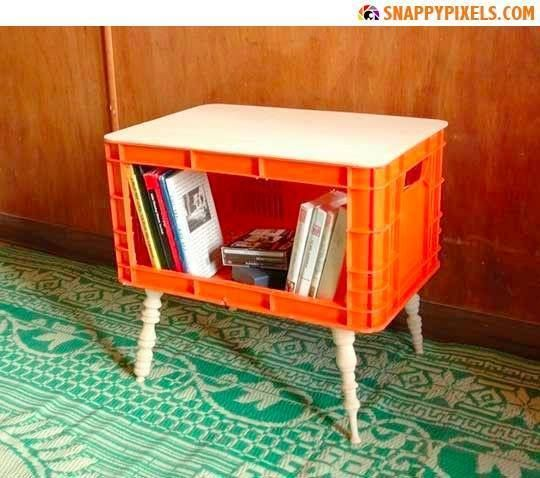 25 best ideas about plastic crates on pinterest milk for Milk crate crafts