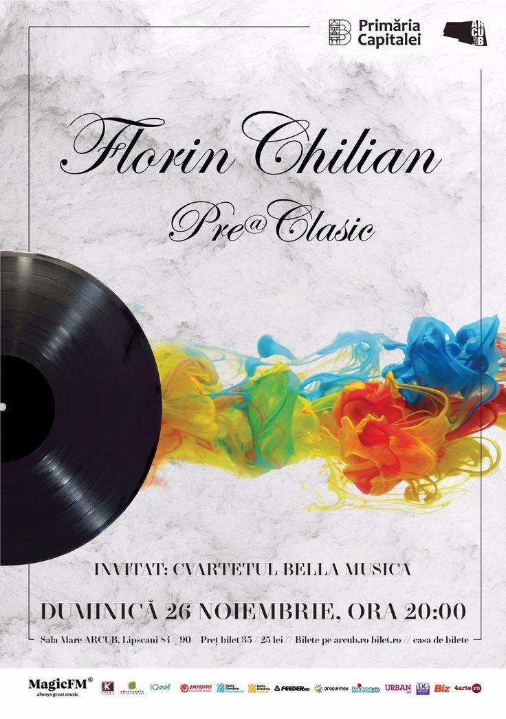 Florin Chilian devine Pre@Clasic pe 26 noiembrie, la ARCUB. Un nou stil muzical: hituri pop, doină, tango și manea preclasică. Vă așteptăm!