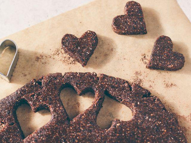 raw cherry brownie hearts // oh, ladycakes