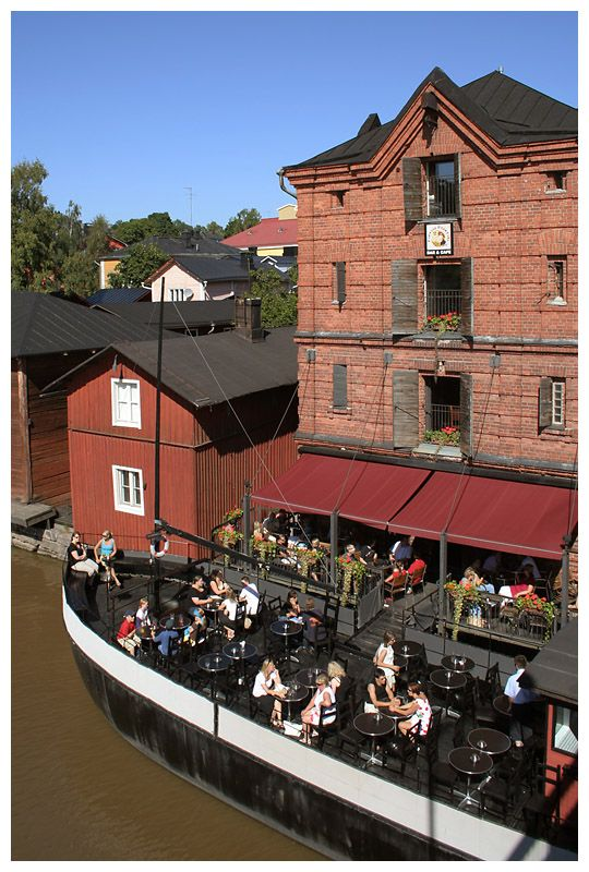 Cafe by the river - Porvoo, Southern Finland