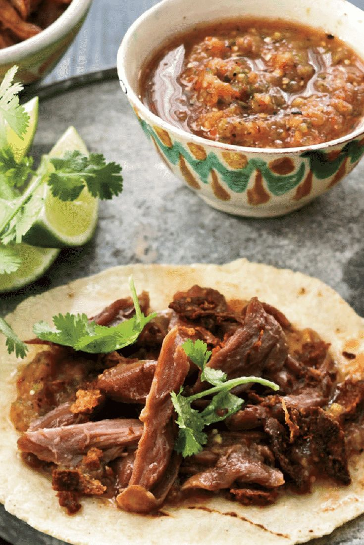 Pressure cooker braised duck recipe. Duck leg-thigh sections with herbs and vegetables cooked in stovetop pressure cooker, then deboned and shredded. #recipes #food #ccoking #duck #tacos