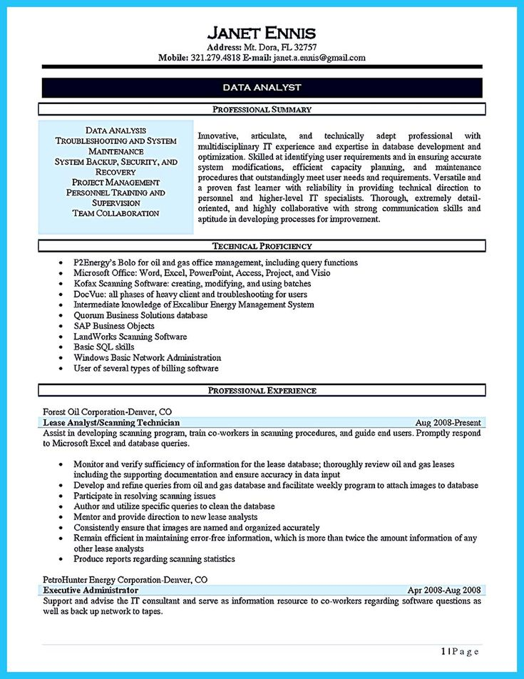 cool High Quality Data Analyst Resume Sample from Professionals, Check more at http://snefci.org/high-quality-data-analyst-resume-sample-professionals