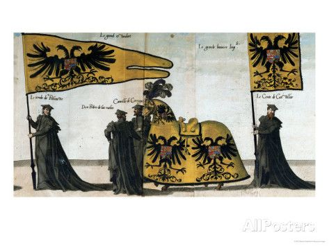 Nobles Carry the Grand Imperial Standard and the Grand Imperial Banner Giclee Print