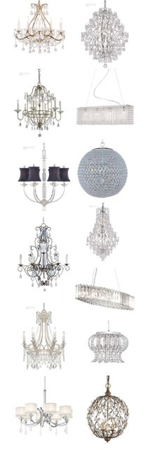 Chandeliers from $100. I love chandeliers