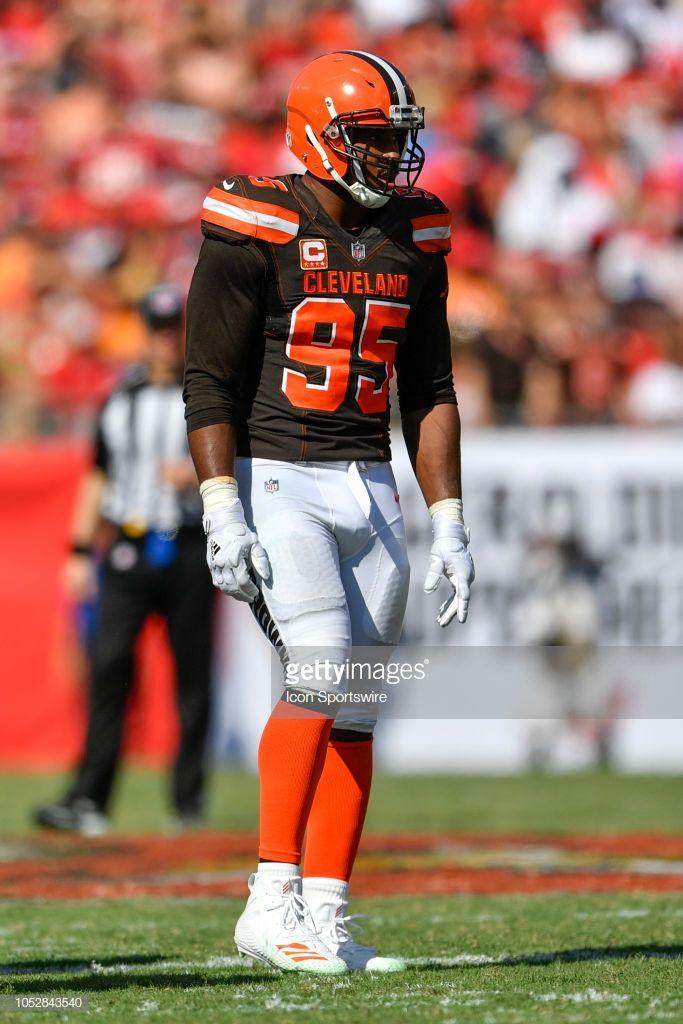 News Photo : Cleveland Browns defensive lineman Myles Garrett.