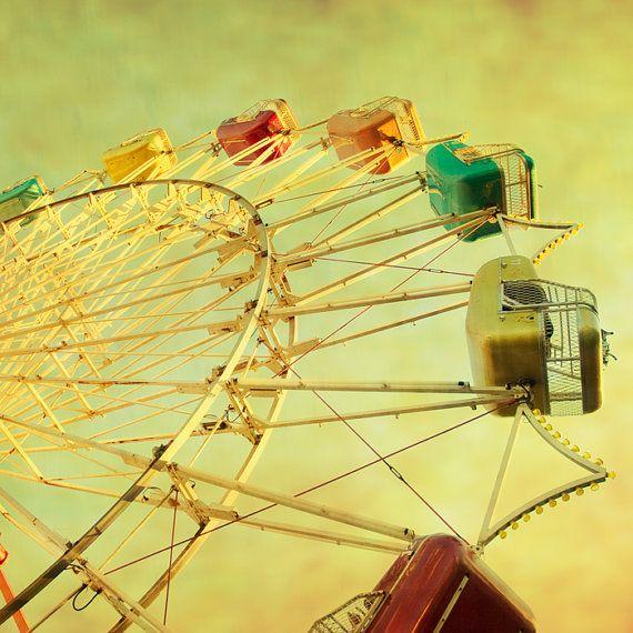 SALE  Carnival photography ferris wheel nursery art by bomobob, $21.00