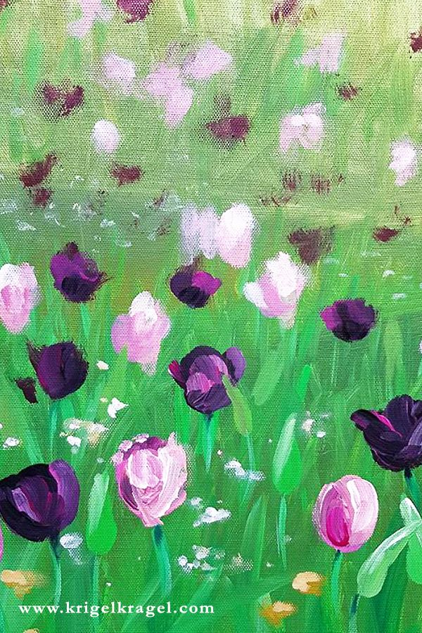 Blumen Und Blumenwiese Malen Lernen Mit Acrylfarben Auf
