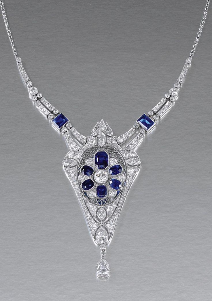 MARCUS & CO.-Belle Epoch Sapphire/Diamond, 1910