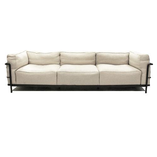 lc3 down le corbusier sofa cassina modern design within. Black Bedroom Furniture Sets. Home Design Ideas