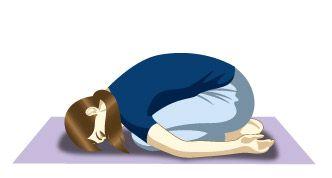 5.(Pose del niño) se relaja el cuerpo, calma el sistema nervioso y ayuda a aliviar el cuerpo de stress.