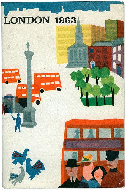 E.W. Fenton: Visitor's guide to London. Create vintage posters of places we like, etc. to highlight Travel vertical.