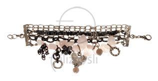 Pembe kuvars taşlı bileklik / Bracelet with rose quartz