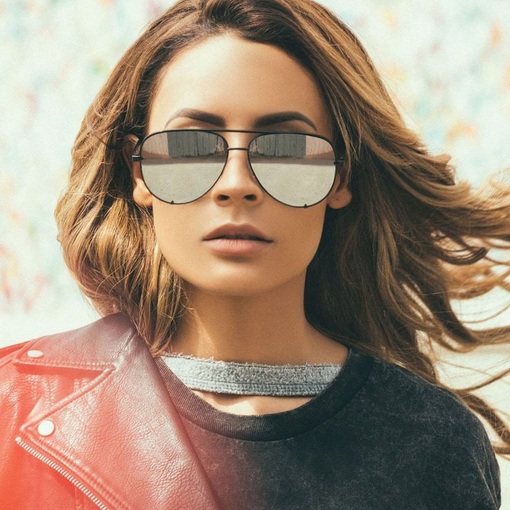 High Key Sunglasses - Black/Silver Mirror
