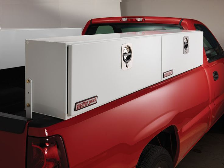 Weatherguard has a complete line of steel and aluminum high side tool boxes for your truck.  they can be ordered in different lengths.  They come standard with a 3 point locking system that reduces the possibility of theft.  when you want the best order weatherguard from Bird Ladder.