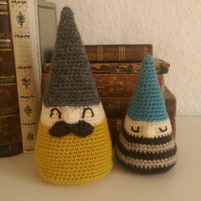 Crochet gnomes. Christmas decoration. DIY. Dansk opskrift. Danish.