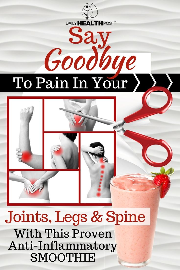 Say Goodbye To Pain In Your Joints, Legs and Spine With This Proven Anti-Inflammatory Smoothie via @dailyhealthpost | http://dailyhealthpost.com/anti-inflammatory-smoothie-to-heal-joint-leg-and-spine-pain/