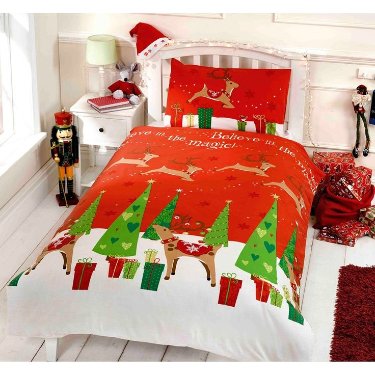 Believe Christmas Junior Toddler Duvet Cover and Pillowcase Set //Price: $13.50 & FREE Shipping //     #bedding sets