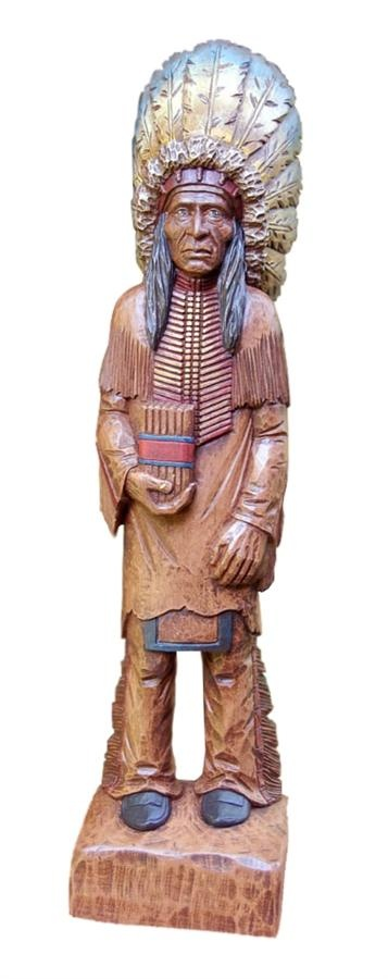 Hand Painted Cigar Store Indian