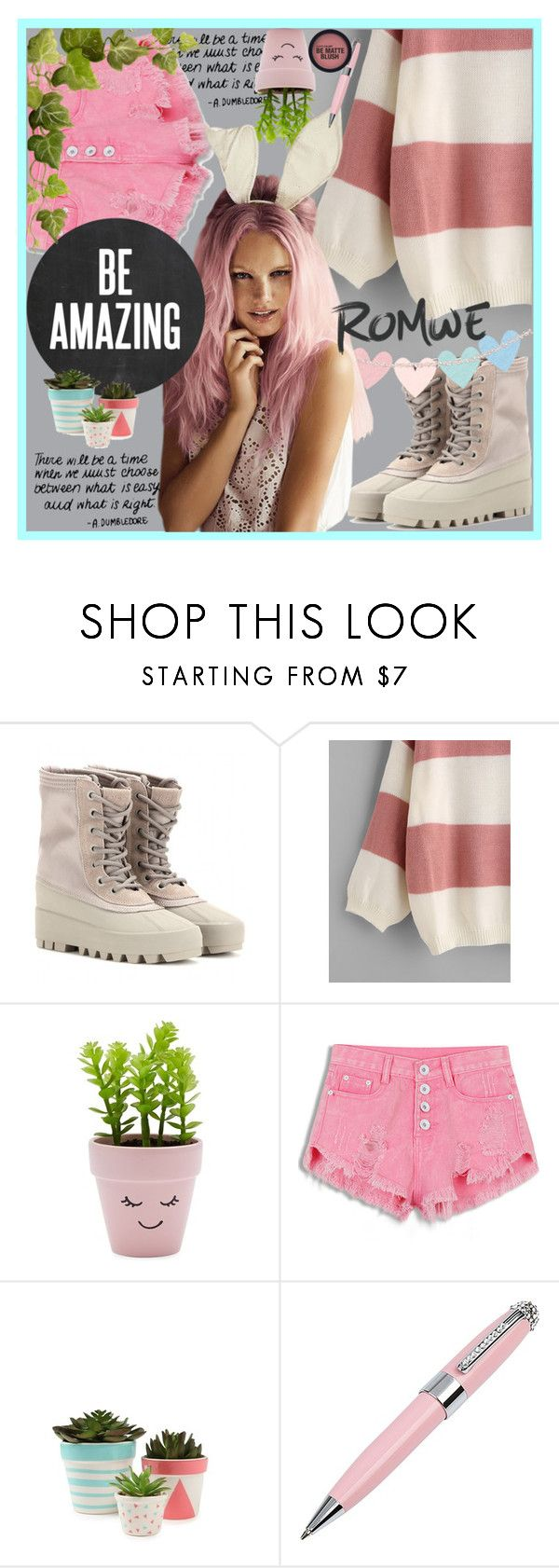 """""""romwe contest"""" by imnotyourstyle ❤ liked on Polyvore featuring adidas Originals, New Look, WithChic and ICE London"""
