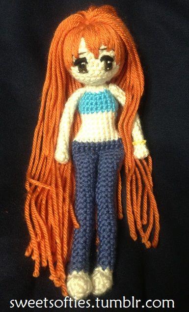 One Piece - Nami - Crochet/Amigurumi Doll by Sylemn on deviantART