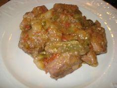 bocconcini di pollo con patate pomodori e zucchine