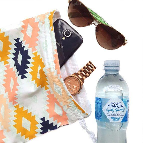 Bikini Bag. Small Wet Bag. Wet Dry Bag. by LittleAlligatorStore