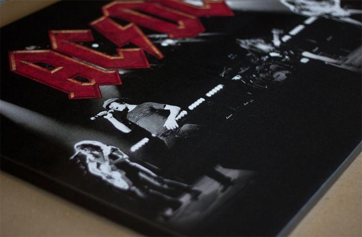 AC/DC poster on canvas печать на холсте