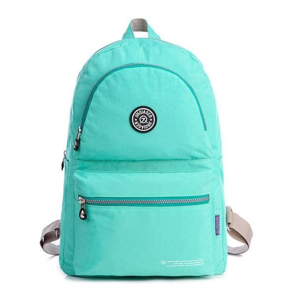 Women Men Nylon Waterproof Backpack Casual Outdoor Lightweight Students School Bags Rucksack