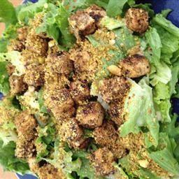 Pistachio-Crusted Tofu Salad with Lemon-Tahini Dressing on BigOven ...