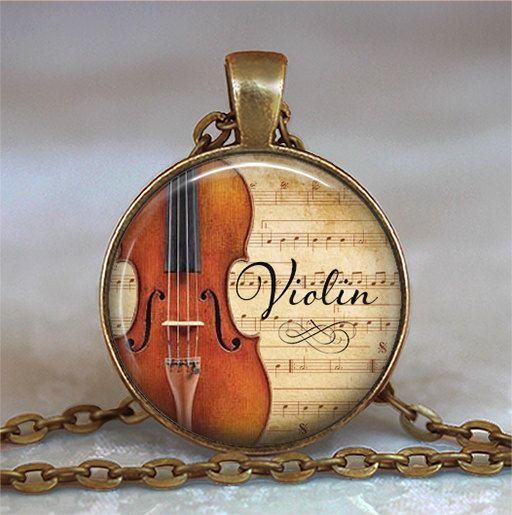 Pendentif violon et de musique, cadeau musicien, don du professeur de musique, violoniste cadeau violon pendentif musique étudiant cadeau porte-clés porte-clés porte-clés